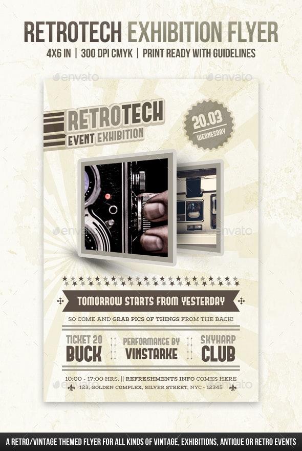 Retrotech Exhibition Flyer - Miscellaneous Events