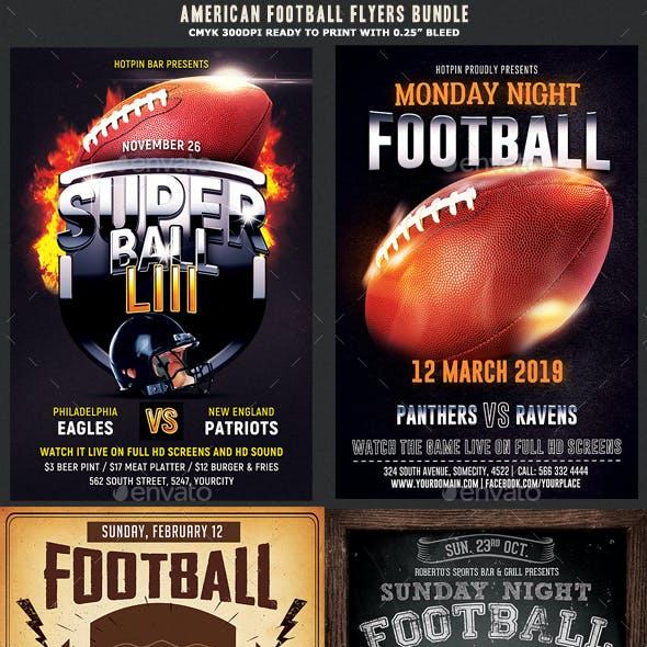 American Football Flyer Template Bundle