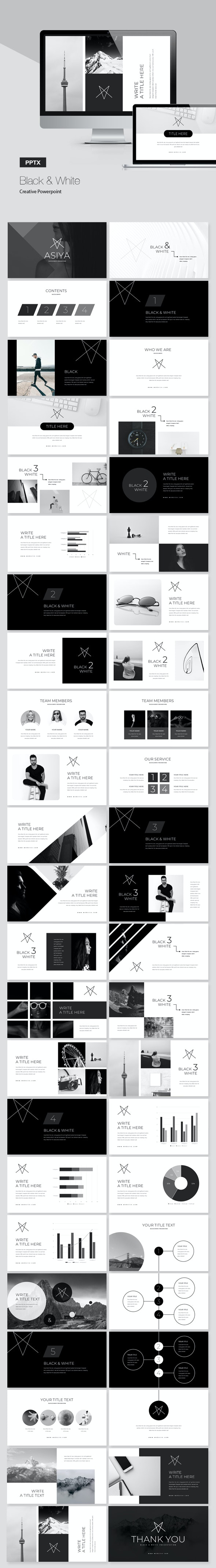 Black & White Powerpoint Presentation - Creative PowerPoint Templates