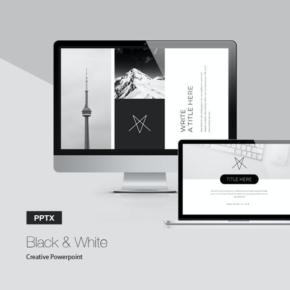 Black & White Powerpoint Presentation