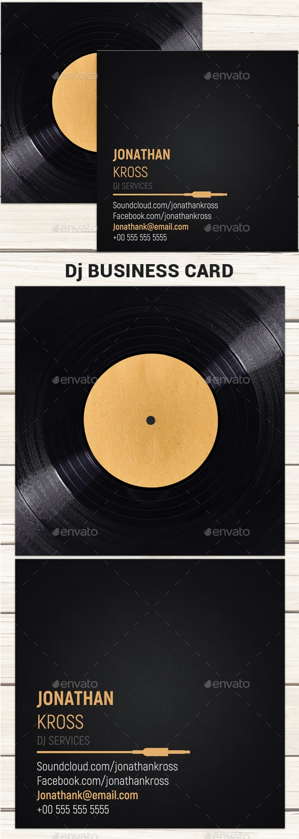 Dj Business Card Template - Business Cards Print Templates