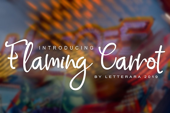 Flaming Carrot - Hand-writing Script