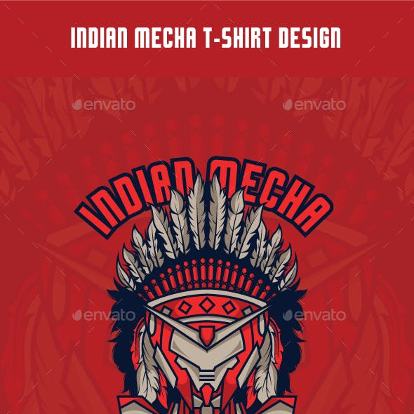 Indian Mecha T-Shirt Design