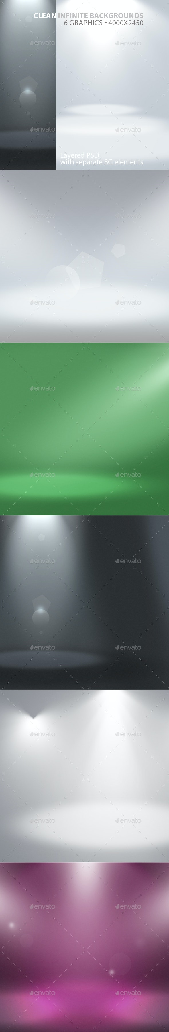 Clean Infinite Layered Backgrounds - Backgrounds Graphics