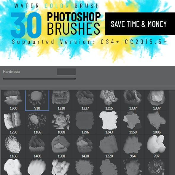 30 watercolor brush
