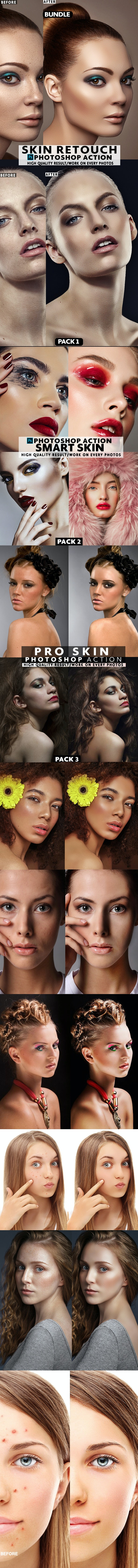 Skin Action Bundle - Actions Photoshop