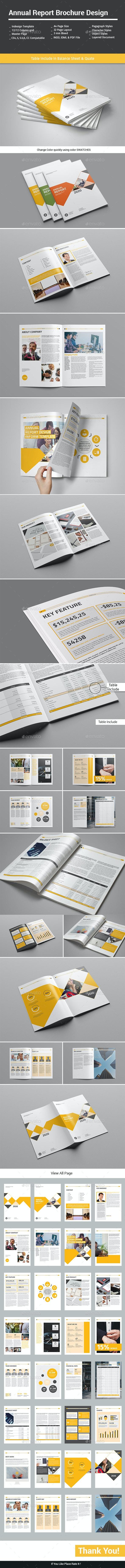 Annual Report Brochure Design - Informational Brochures