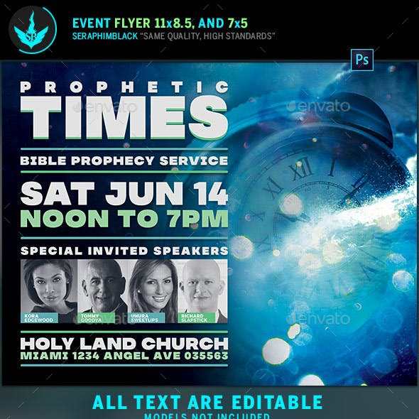 Prophetic Times Church Flyer Template
