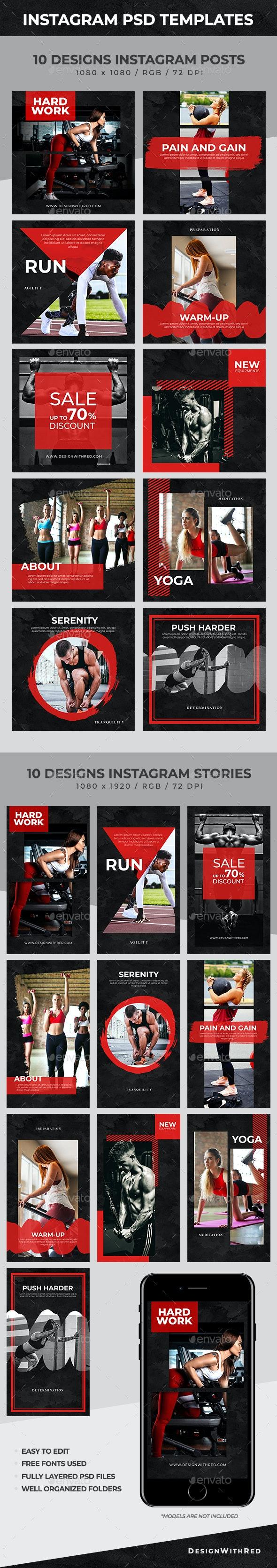Instagram Posts & Stories Templates - Social Media Web Elements