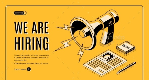 Recruiting Agency Service Isometric Vector Website - Concepts Business