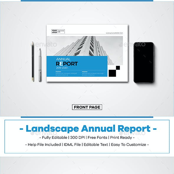 A5 Landscape Annual Report