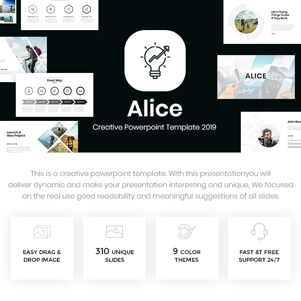 Alice - Creative Powerpoint Template 2019 - Creative PowerPoint Templates