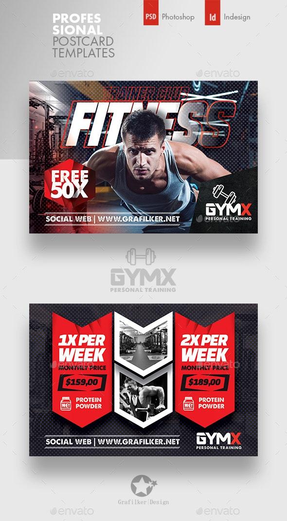 Fitness Trainer Postcard Templates - Cards & Invites Print Templates