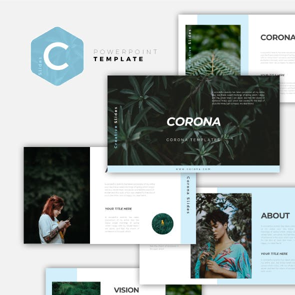 Corona - Creative Powerpoint Template