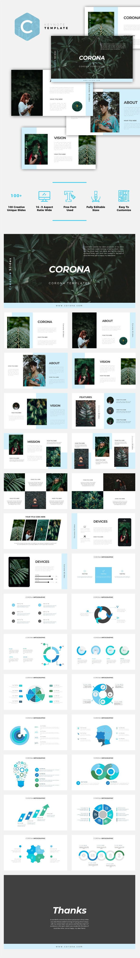 Corona - Creative Keynote Template - Creative Keynote Templates