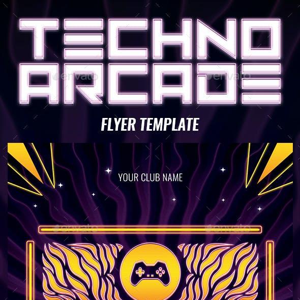 Techno Arcade New 3 Flyer Template