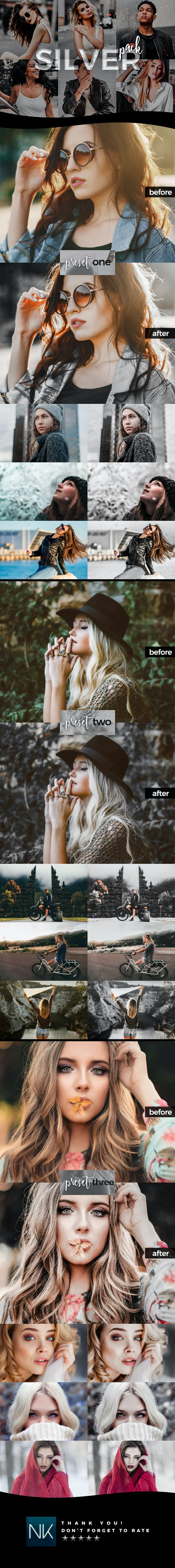 3 Selective Color Lightroom Presets - Silver Pack (+Mobile Version) - Lightroom Presets Add-ons