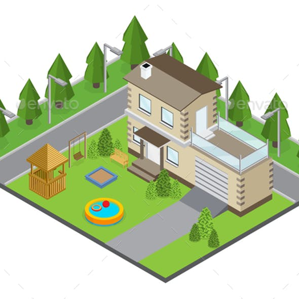 Country Building Illustration