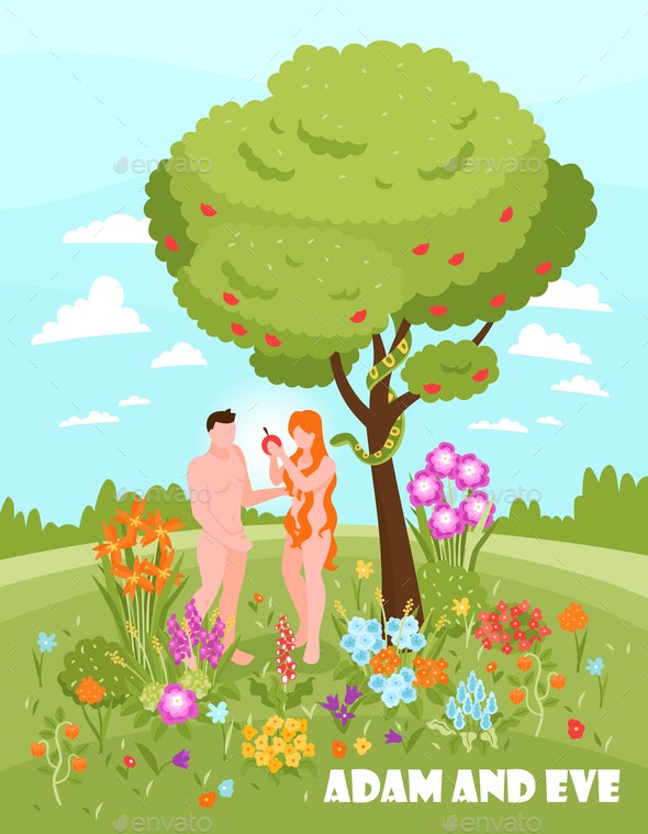 Adam and Eve Background - People Characters