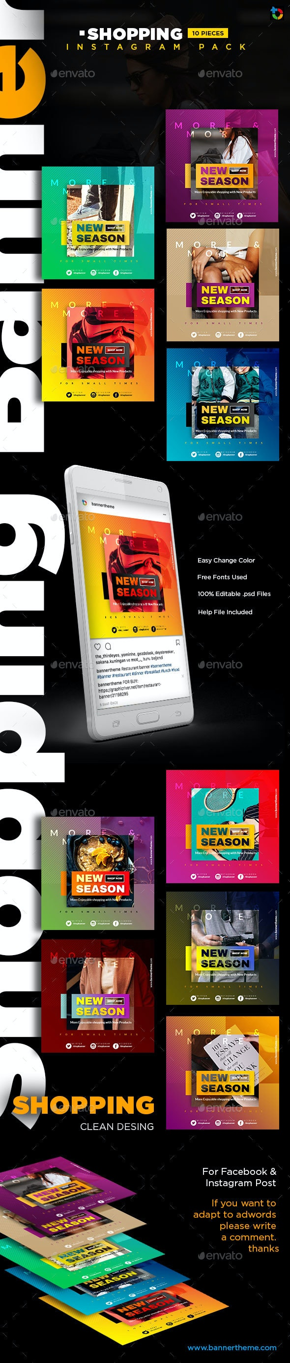Shopping Instagram Banner - Social Media Web Elements