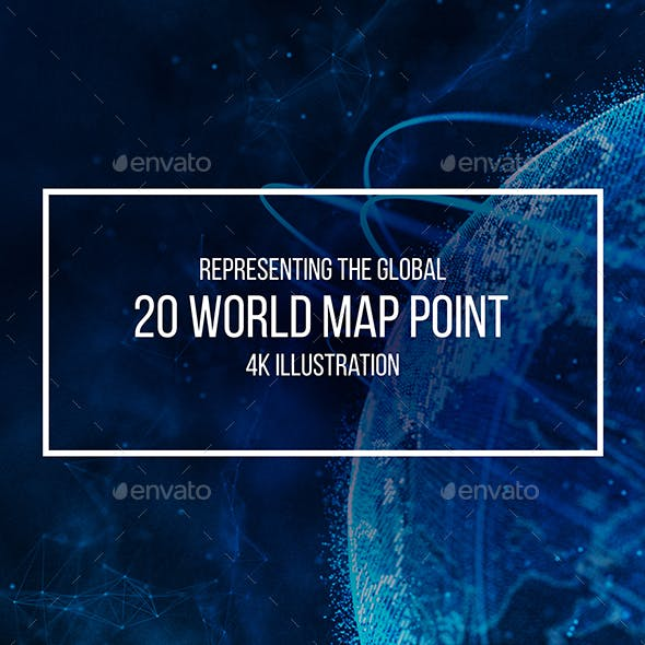 Global Network Connection. World Map Point. Representing the Global Network Connection