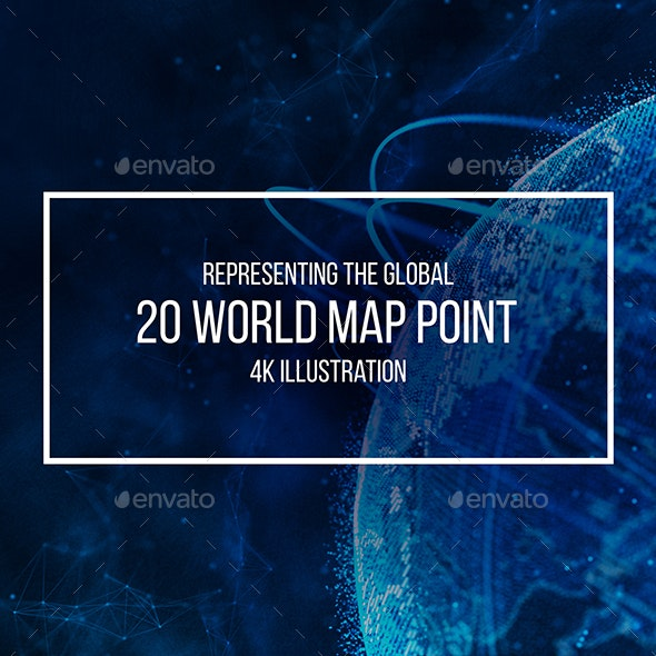 Global Network Connection. World Map Point. Representing the Global Network Connection - Backgrounds Graphics