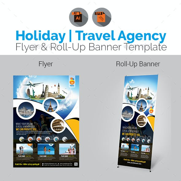Travel Flyer with Rollup Bundle