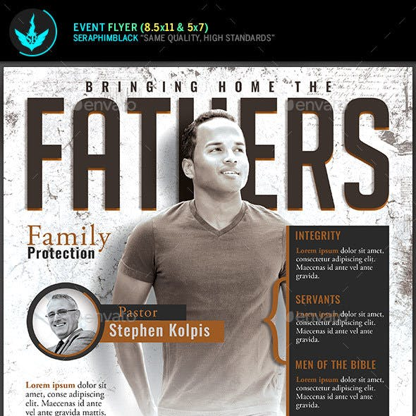 Fathers Church Conference Flyer Template