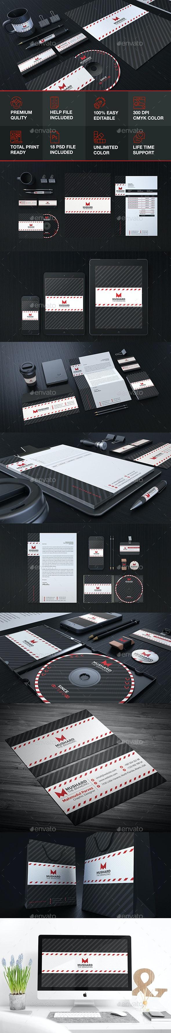 Mushard Branding Stationary Identity - Stationery Print Templates