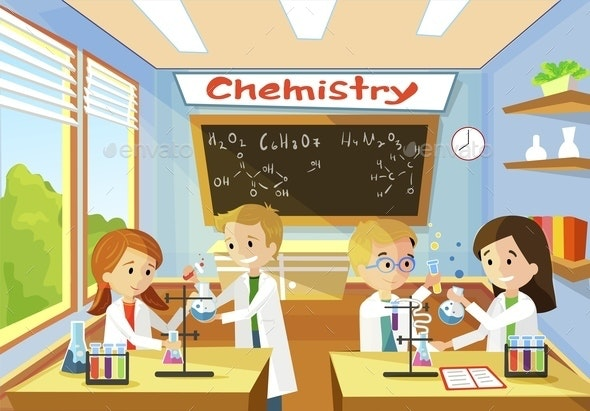 Elementary Class School Chemistry for Children - Miscellaneous Vectors