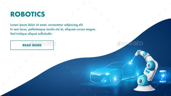Smart Automated Robotic Arm Industrial Robotics - Industries Business