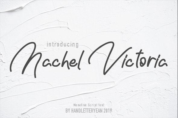 Nachel Victoria - Script Fonts