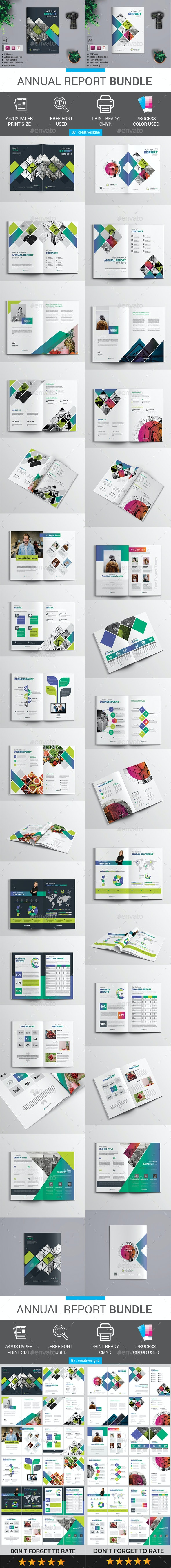 Annual Report Bundle - Magazines Print Templates
