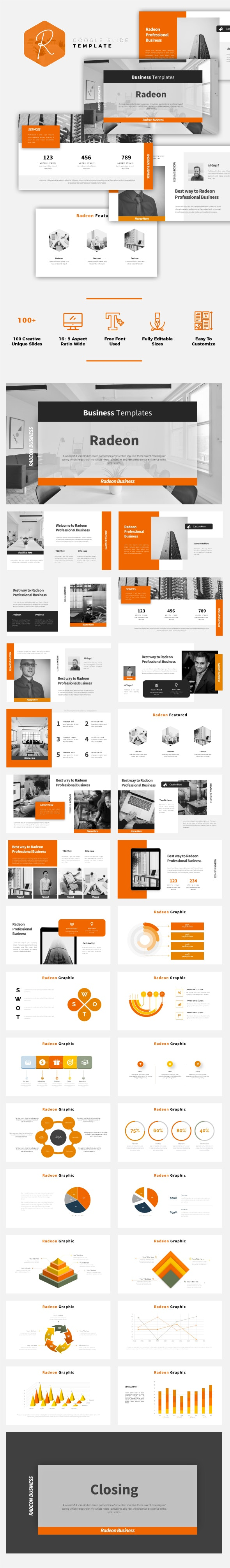 Radeon - Business Google Slides Template - Google Slides Presentation Templates