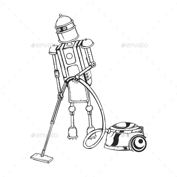 Isolated House Robot - Miscellaneous Vectors