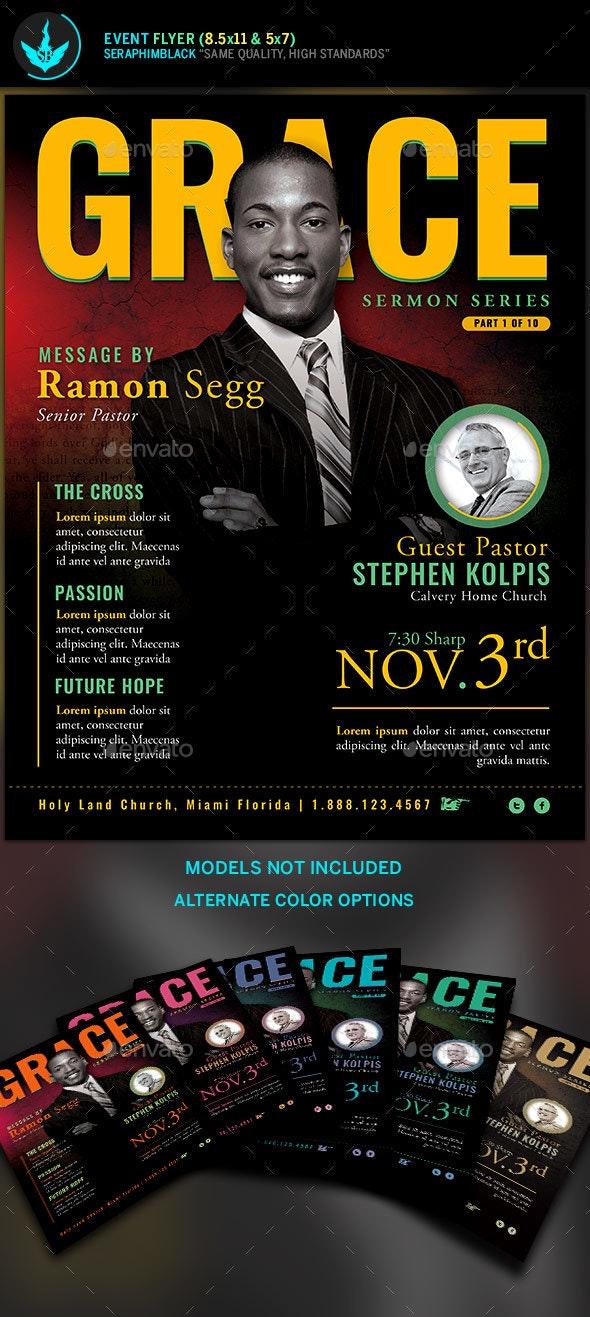 Grace Church Event Flyer Template - Church Flyers