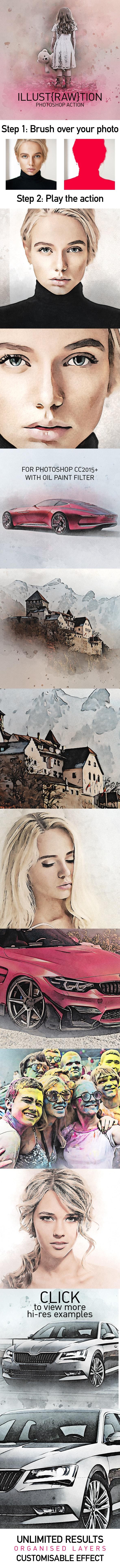 IllustRAWtion Photoshop Action - Photo Effects Actions
