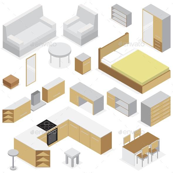 Furniture Elements For Home Interior - Miscellaneous Vectors