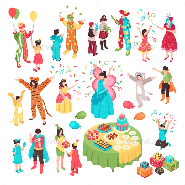Kids Holidays Animator Set - People Characters