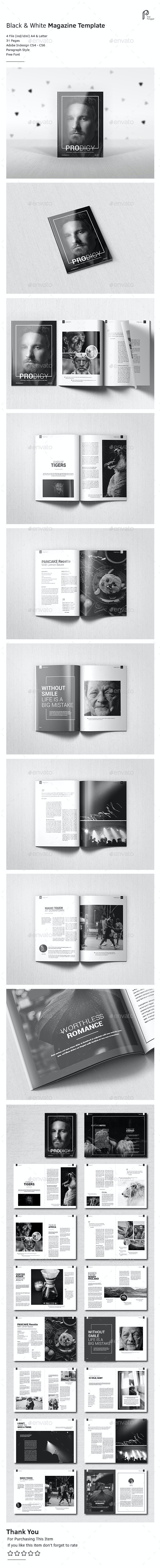Black & White Magazine Vol.3 - Magazines Print Templates