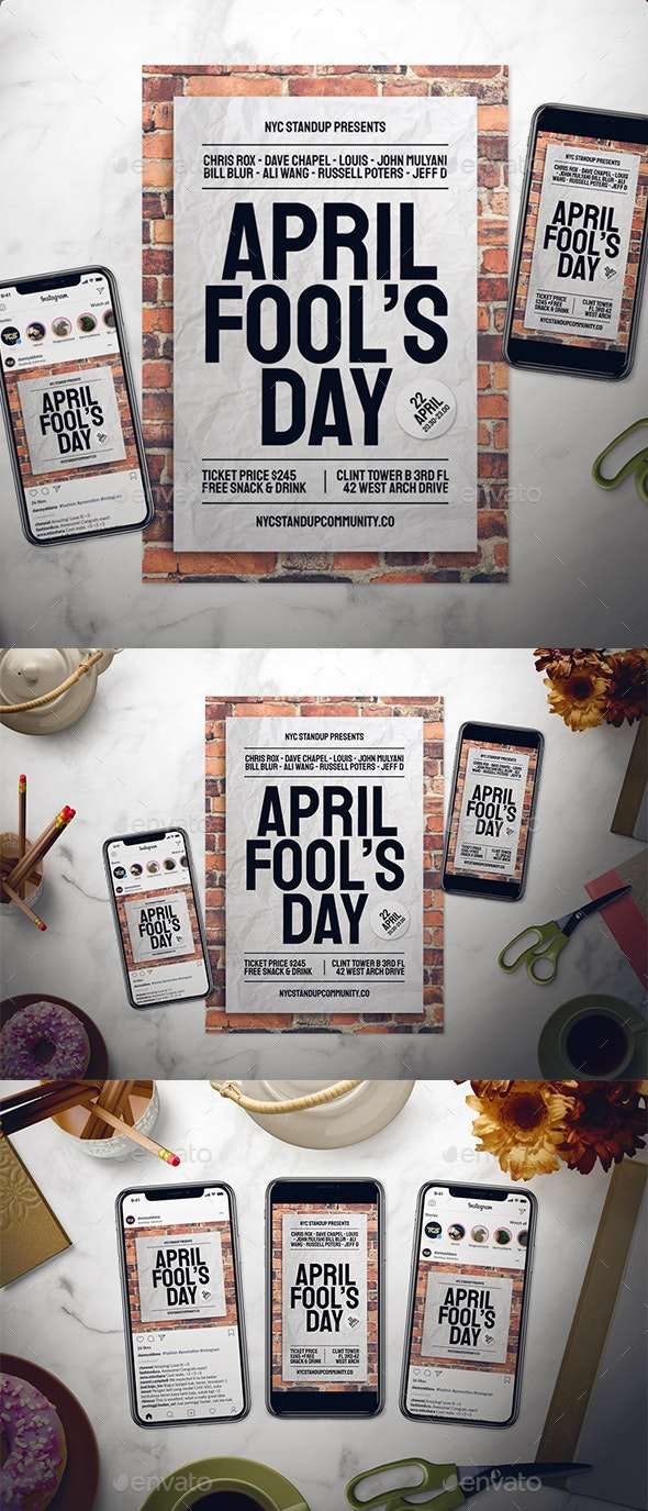 April Fool's Day Flyer Set - Events Flyers