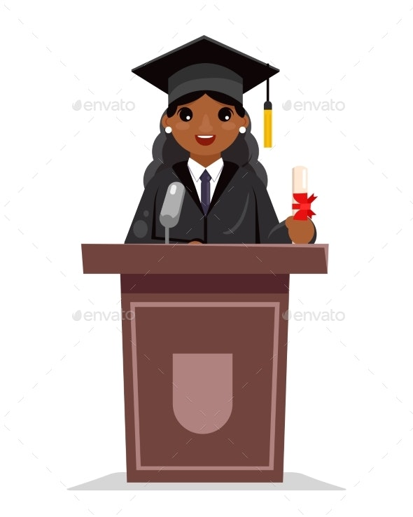 Graduate Solemn Education - People Characters