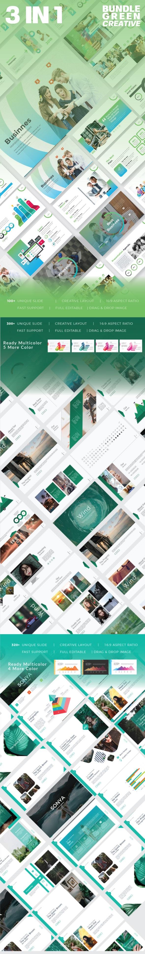 3 in 1 Google Slide Template - Google Slides Presentation Templates