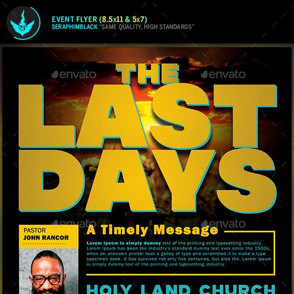 The Last Days Church Conference Flyer Template