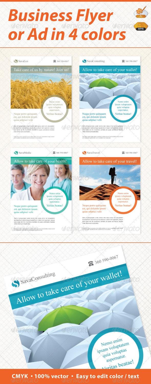Sava Minimal Business Flyer / Ad - Corporate Flyers