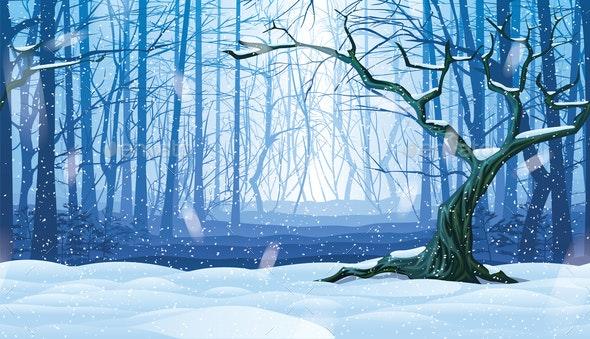 Horizontal Seamless Background of Landscape - Landscapes Nature