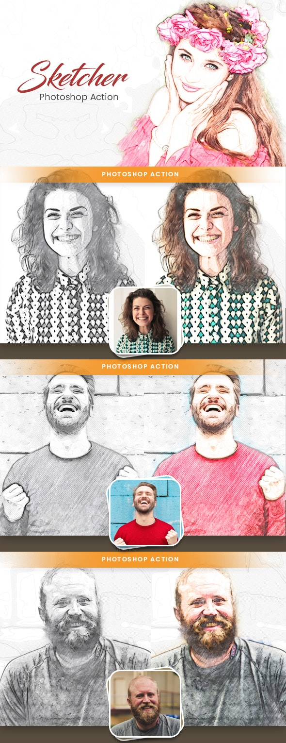 Sketcher Photoshop Action - Photo Effects Actions