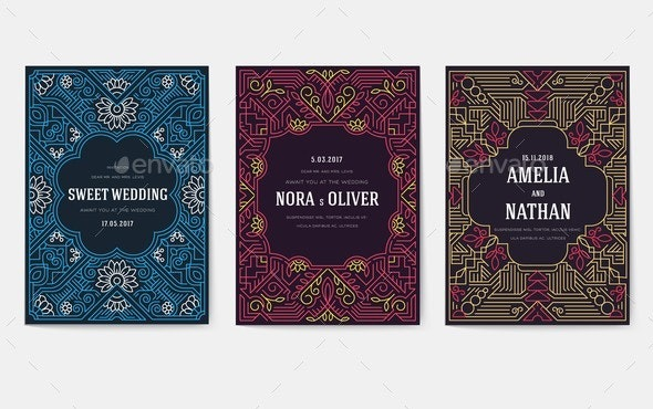 Invitations in a Modern Style for Business - Miscellaneous Vectors