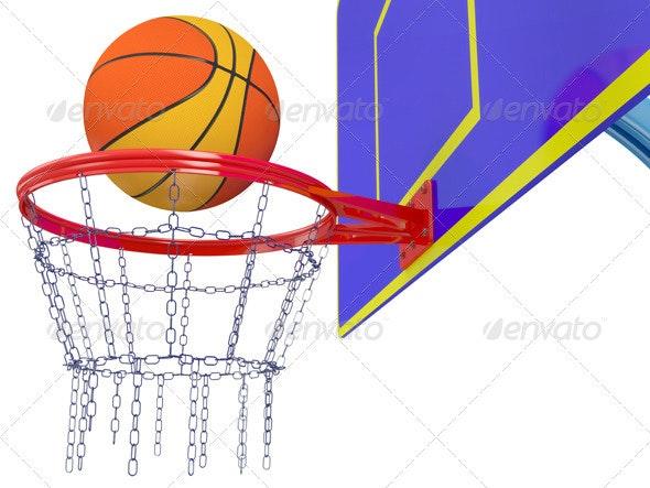 Basketball basket - 3D Backgrounds