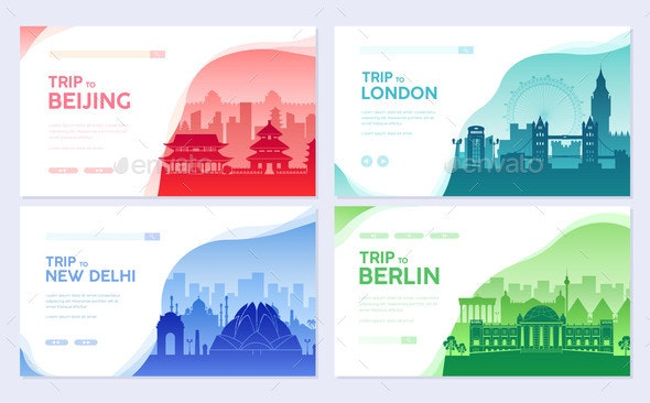 Travel Information Cards - Buildings Objects